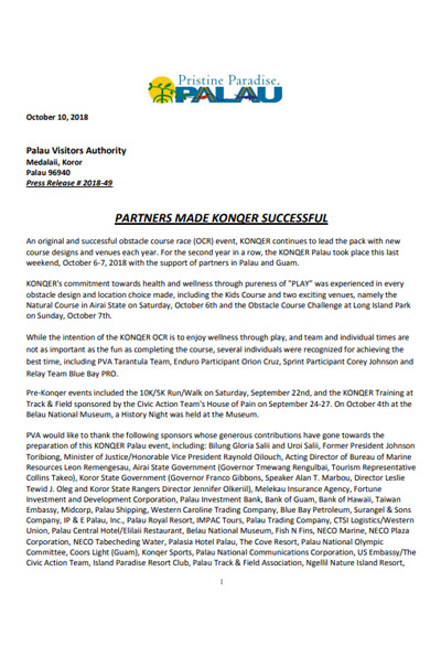 Press Release - KONQER
