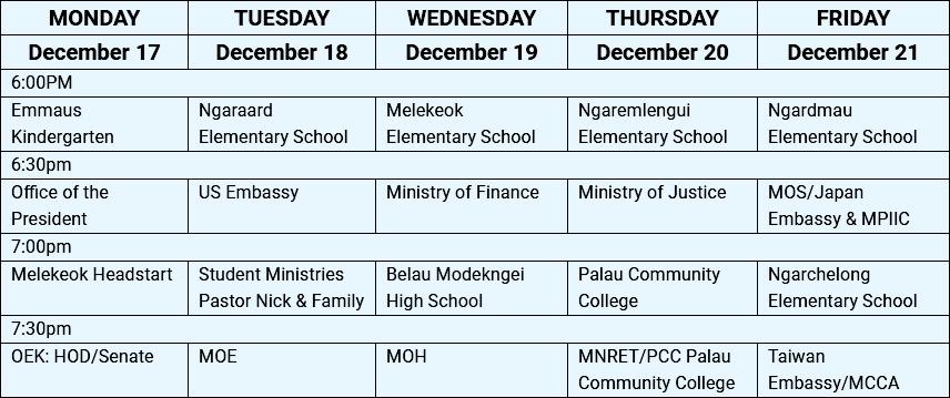 2018 Children's Christmas Program